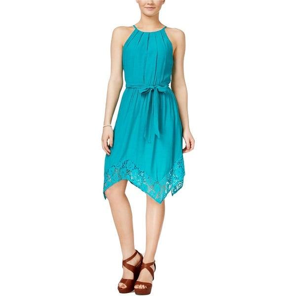 842288528235 Shop BCX Womens Juniors Casual Dress Handkerchief Hem Spaghetti ...
