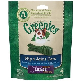 Greenies Hip & Joint Care Canine Dental Chews Large 6oz