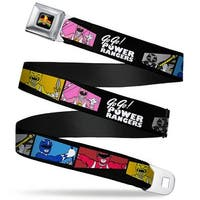 Power Rangers Logo Full Color Power Ranger Pose Blocks Go Go! Power Rangers Seatbelt Belt