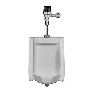 Sloan WEUS-1000.1401 Efficiency 0.125 GPF Urinal with Top Spud Placement and Egos Flushometer
