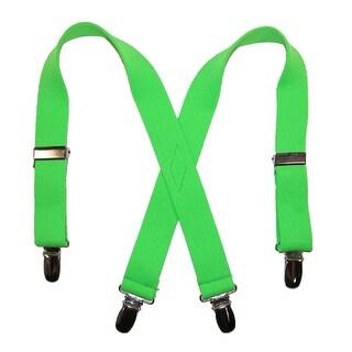 CTM® Infants' Elastic Solid Neon Suspenders - One Size