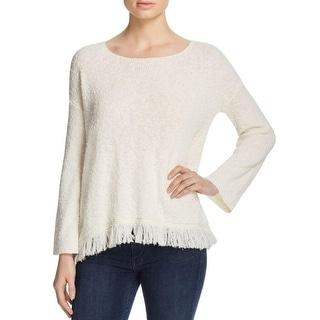 Soft Joie Womens AAryan Pullover Sweater Fringe Jewel Neck