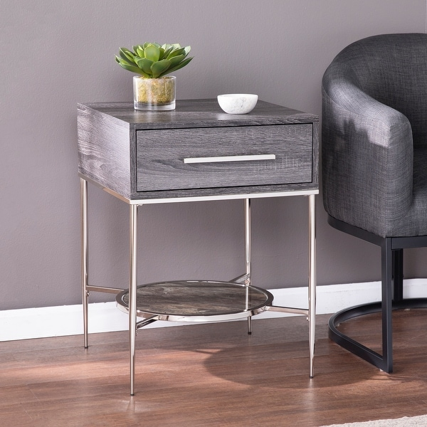 Strick & Bolton Waterson Transitional Black Wood Nightstand. Opens flyout.