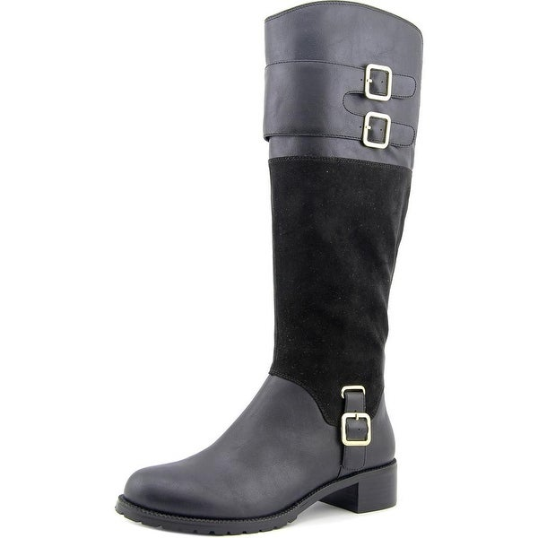 Bella Vita Adriann II Women W Round Toe Synthetic Black Knee High Boot