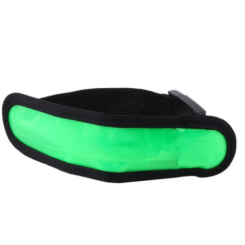 Running LED Glowing Reflective Adjustable Buckle Night Safety Armband Green