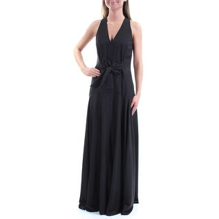 RACHEL ROY $169 Womens New 1319 Black Tie Sleeveless Fit + Flare Dress 8 B+B