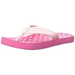 Reef Girls Little Ahi Polka Dot Flip-Flops - 4/5 medium (b,m)