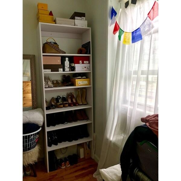 Modular Closets Wood Shoe Shelf Tower Closet Organizer