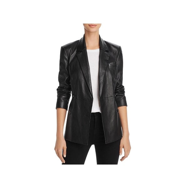 9da633cd9 Shop Theory Womens Bristol Leather Jacket Winter Double Breasted ...