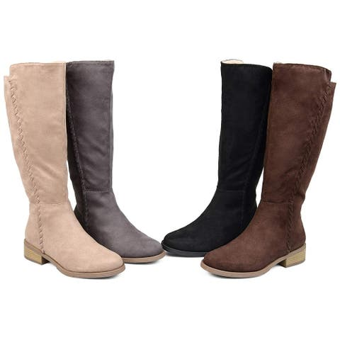 Brinley Co Comfort Womens Whipstitch Riding Boot