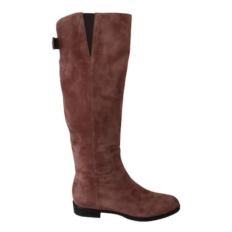 Dolce & Gabbana Beige Leather Suede Knee Shoes Women's Boots - eu39-us8-5