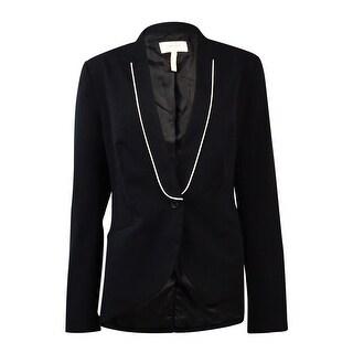 Laundry by Shelli Segal Women's One Button Gabardine Blazer - dark moonlight - 10