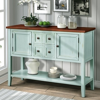 Link to Cambridge Series Buffet Sideboard Console Table with Bottom Shelf Similar Items in Dining Room & Bar Furniture