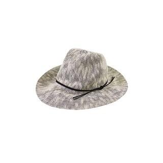 Collection Xiix Grey Two Tone Slubby Knit Panama Hat OS