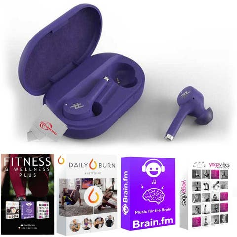 iFrogz - Airtime Pro True Wireless in Ear Bluetooth Earbuds - Violet + 92783 Fitness and Wellness Plus Software Suite