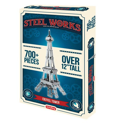 Schylling Steelworks 3D Empire State Building Model Kit - 1000 Pieces - Empire State Building - 12 in. x 4.25 in. x 3.5 in.