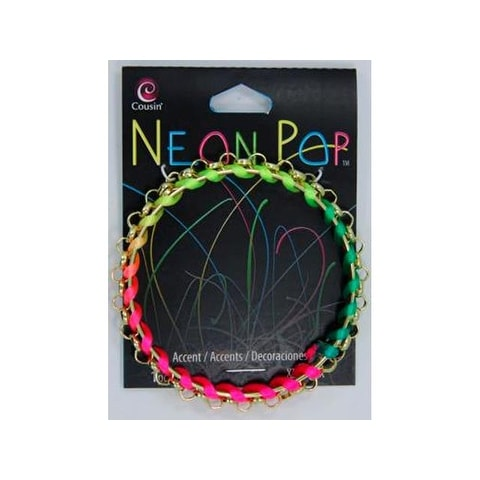 Cousins Neon Pop Bracelet Rainbow Wrapped Gold