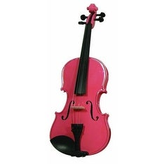Merano Full Size Pink Violin with Case
