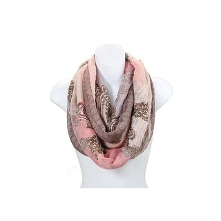 Paisley Wide Infinity Scarf Lightweight