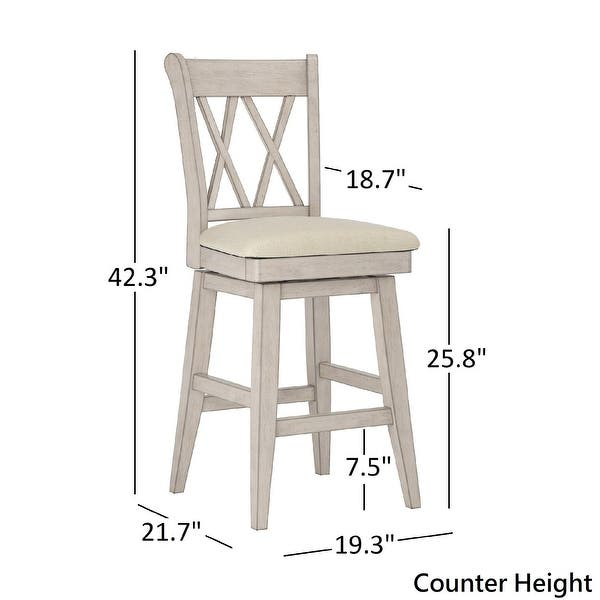 Eleanor Double X Back Wood Swivel Bar Stool By Inspire Q Classic On Sale Overstock 20457171