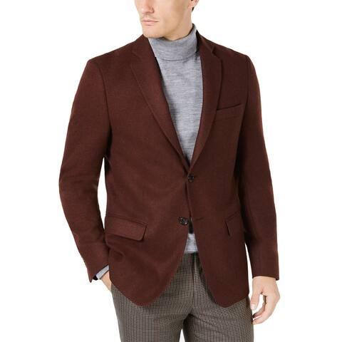 Lauren Ralph Lauren Mens Classic-Fit Twill Wool Sportcoat 43R Burnt Orange