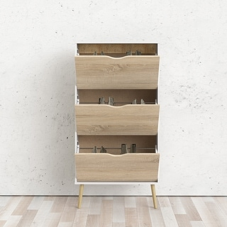 Link to Carson Carrington Hjo 3-drawer Shoe Cabinet Similar Items in Bookshelves & Bookcases