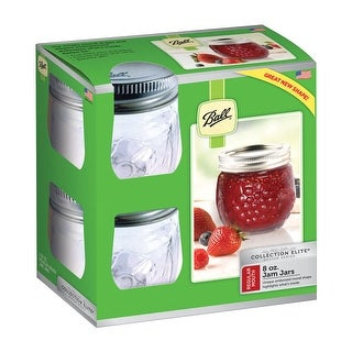 Ball 1440081210 Collection Elite Mouth Canning Jar, 8 Oz