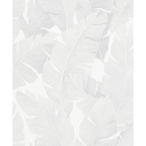 Attalea White Palm Leaf Wallpaper - 20.9 x 396 x 0.025