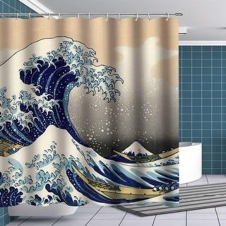 Sea Wave Shower Curtain Polyester Bath Shower Curtains