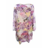 Rachel Rachel Roy Women's Bell-Sleeve Printed Lace Dress - Eggshell Multi