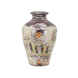 IMAX Home 95958  Kelis Medium Terracotta Vase - Multi-Colored