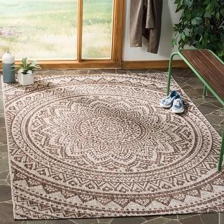 Link to Safavieh Courtyard Fran Mandala Indoor/ Outdoor Rug Similar Items in Transitional Rugs