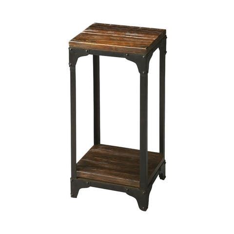 Offex Gandolph Industrial Chic Rectangular Pedestal Stand - MultiColor