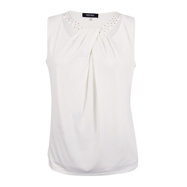 659e3ac4311 Shop Nine West Women s Plus Size Cutout Pleated Jersey Top - Lily - Free  Shipping On Orders Over  45 - Overstock - 18534212