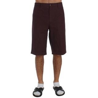Dolce & Gabbana Bordeaux Cotton Knee High Shorts - it52-xl