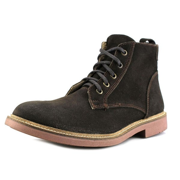 Independent Boot Company Deacon Men Round Toe Suede Brown Chukka Boot