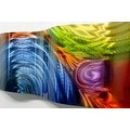 Statements2000 Multicolor Abstract Metal Wall Art Accent Sculpture Decor by Jon Allen - Elation Wave - Thumbnail 2