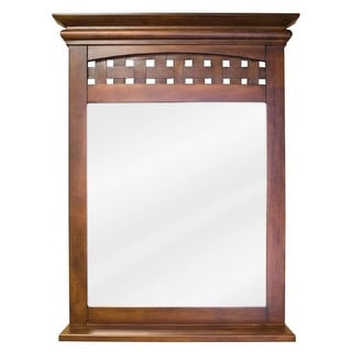 Elements MIR055 Lyn Collection Rectangular 26 x 34-1/4 Inch Bathroom Vanity Mirror