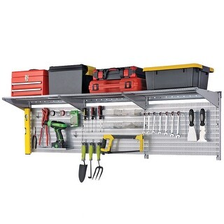 Allspace 38 Piece Utility Wall Mount Organization Kit, Garage Storage, Peg Board