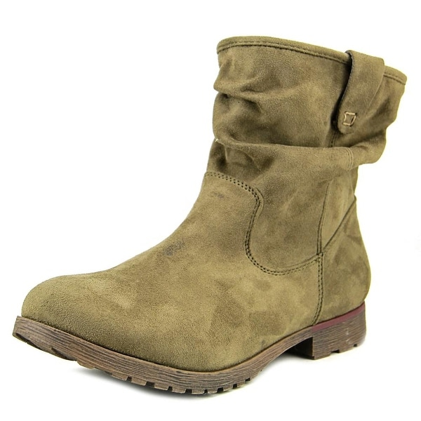 Nine West Stacey OL1 Round Toe Canvas Boot