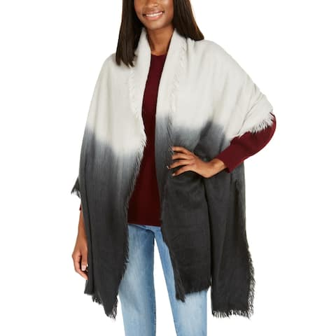DKNY Women's Woven Ombre SUPER Soft Knit Scarf, Gray, One Size - One Size