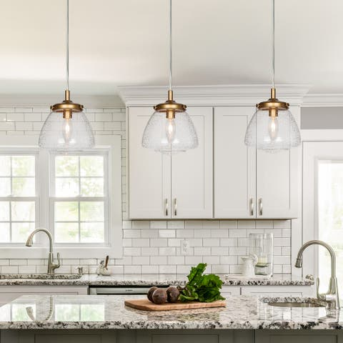 "Glam 1-light Glass Pendant Lighting Kitchen Island Hanging Lights - D 6.3"" * H 7.1"""
