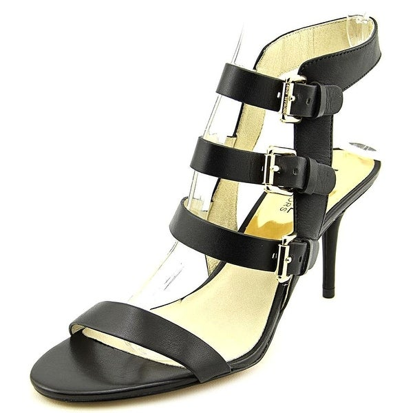 Michael Kors Womens BEVERLY Leather Open Toe Special Occasion