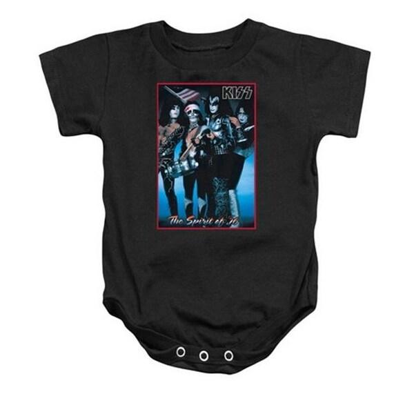 Trevco Kiss-Spirit Of 76 Infant Snapsuit, Black - Medium 12 Months