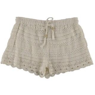 Joie Womens Maera Crochet Scalloped Casual Shorts