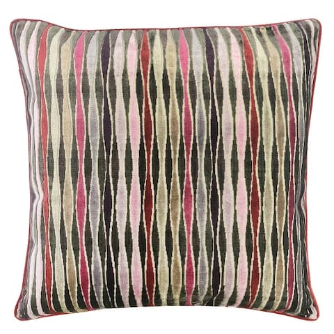 Rodeo Home Frankie Multicolor Wave Square Throw Pillow