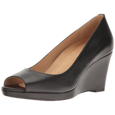 6b51c2ed8b85 Naturalizer Womens Olivia Leather Peep Toe Casual Platform Sandals