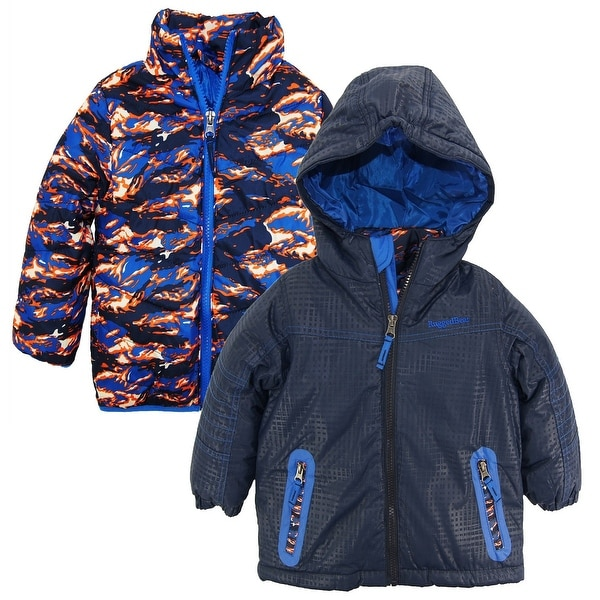 ec4a3e457 Shop Rugged Bear Toddler Boys 2-in-1 System Winter Coat Quilted Fire ...