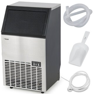 Della Stainless Steel Commercial Ice Maker Undercounter Freestanding Machine, 100LB/24hr
