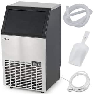 Della Stainless Steel Commercial Ice Maker Undercounter Freestanding Machine, 100LB/24hr|https://ak1.ostkcdn.com/images/products/is/images/direct/e326771ba62cbc33bfe1ba537779b41f28f169ba/Della-Stainless-Steel-Commercial-Ice-Maker-Undercounter-Freestanding-Machine%2C-100LB-24hr.jpg?impolicy=medium